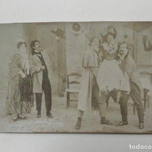foto postal cine mudo o teatro