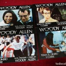 Cine: WOODY ALLEN. TOMA EL DINERO Y CORRE. CARTELES PUBLICITARIOS 34X24CM. 12 UNIDADES.. Lote 135903430