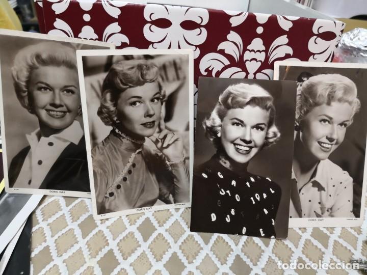 4 FOTOS ANTIGUAS DORIS DAY WARNER BROS. FOTO POSTAL PICTUREGOER (Cine - Fotos y Postales de Actores y Actrices)