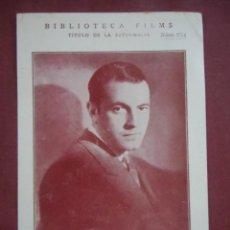 Cine: CINE. RICHARD BARTHELMES.BIBLIOTECA FILMA, CARTULINA.. Lote 136148238