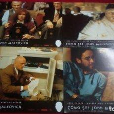 Cine: COMO SER JOHN MALKOVICH. CARTELES PUBLICITARIOS 34X24 CM. 9 UNIDADES. Lote 136346214