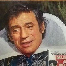 Cine: DELIRIOS DE GRANDEZA (LOUIS DE FUNES - YVES MONTAND) FOTOCROMO ORIGINAL ESTRENO (CARTÓN). Lote 136446042