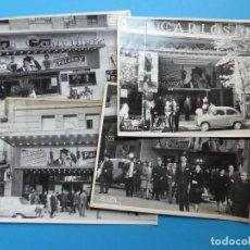 Cine: 4 FOTOS DE CINES ESTRENANDO LA PELICULA PAL JOEY, FRANK SINATRA, RITA HAYWORTH, KIM NOVAK -AÑOS 1960. Lote 137395318
