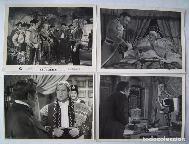 4 FOTOS EN BRILLO DE ESTRELLA DE SIERRA MORENA, CON LOLA FLORES. 18 X 24 CMS.. (Cine - Fotos, Fotocromos y Postales de Películas)