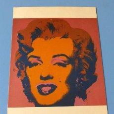 Cine: MARILYN MONROE - FOTO 10,5 X 15 CM - TARJETA POSTAL OBRA ARTE DE ANDY WARHOL 1967. Lote 137981254