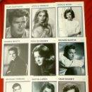Cine: LOTE 9 FOTO FICHAS ACTORES ACTRICES DE CINE AÑOS 60 AL DORSO BIOGRAFIA - TAMAÑO: 13 X 18 CM - KOBAL. Lote 138020570