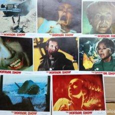 Cine: THE HORROR SHOW BORIS KARLOFF BELA LUGOSI. DOCUMENTAL SET 8 FOTOCROMOS ORIGINALES-TERROR-. Lote 138208066
