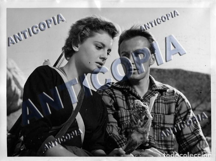 Cine: 15 FOTOGRAFIAS ORIGINALES DEL RODAJE DE LA PELICULA NOSOTROS DOS CON ROSSANA PODESTA - Foto 2 - 136638958