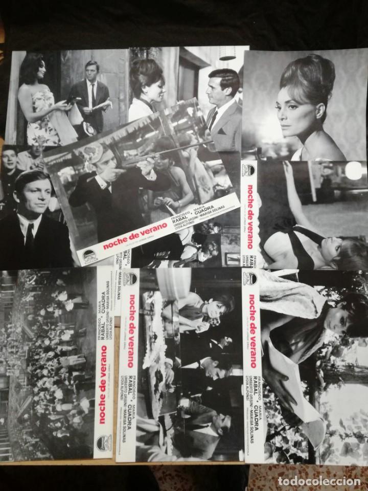 NOCHE DE VERANO. FRANCISCO RABAL JORGE GRAU SET 10 FOTOCROMOS ORIGINAL ESTRENO. (Cine - Fotos, Fotocromos y Postales de Películas)