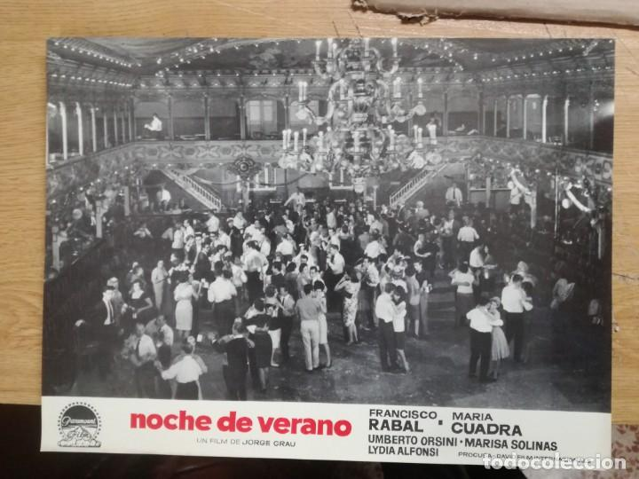 Cine: NOCHE DE VERANO. FRANCISCO RABAL JORGE GRAU SET 10 FOTOCROMOS ORIGINAL ESTRENO. - Foto 2 - 138603538