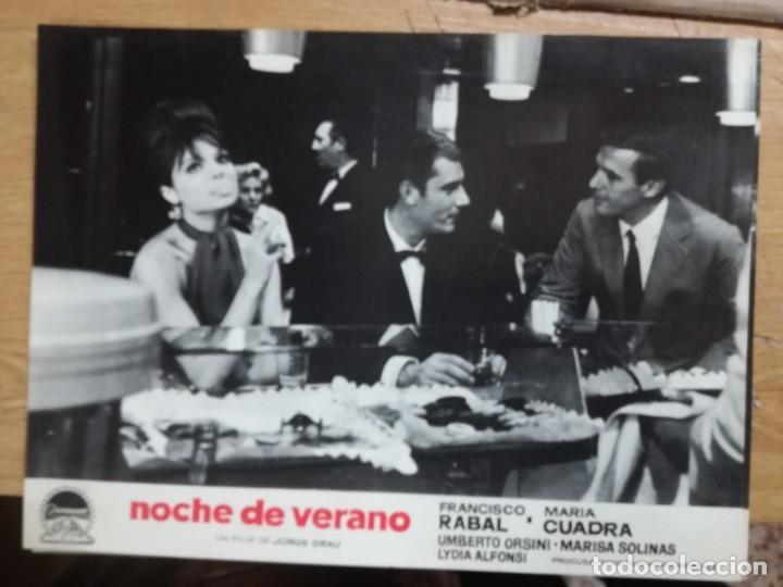 Cine: NOCHE DE VERANO. FRANCISCO RABAL JORGE GRAU SET 10 FOTOCROMOS ORIGINAL ESTRENO. - Foto 3 - 138603538