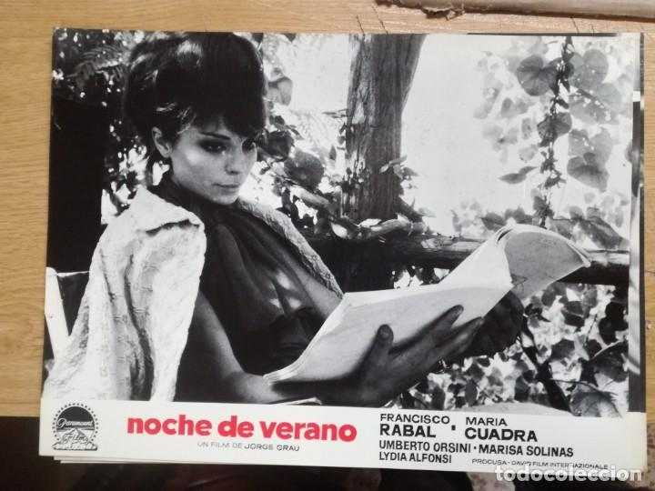 Cine: NOCHE DE VERANO. FRANCISCO RABAL JORGE GRAU SET 10 FOTOCROMOS ORIGINAL ESTRENO. - Foto 4 - 138603538