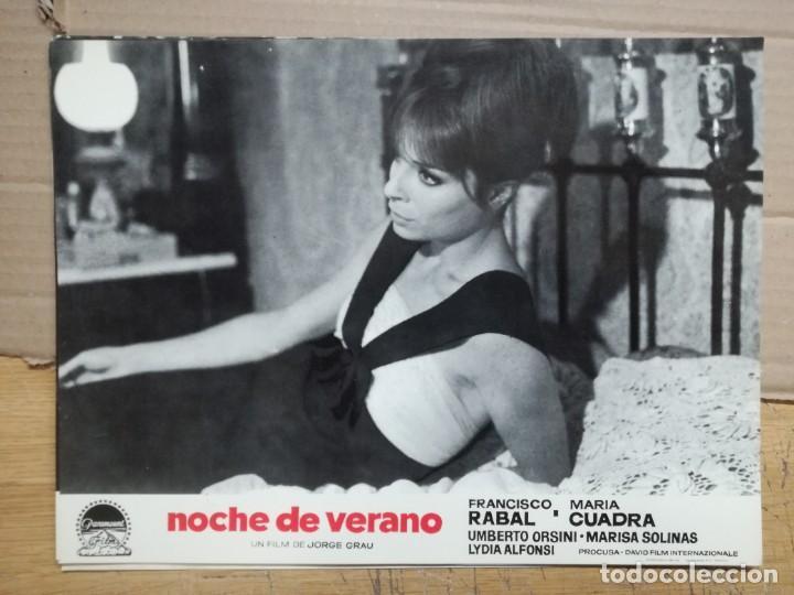 Cine: NOCHE DE VERANO. FRANCISCO RABAL JORGE GRAU SET 10 FOTOCROMOS ORIGINAL ESTRENO. - Foto 7 - 138603538