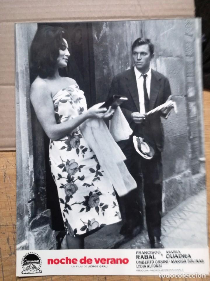 Cine: NOCHE DE VERANO. FRANCISCO RABAL JORGE GRAU SET 10 FOTOCROMOS ORIGINAL ESTRENO. - Foto 10 - 138603538