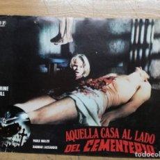 Cine: AQUELLA CASA AL LADO DEL CEMENTERIO LUCIO FULCI GORE CULT -1 FOTOCROMO.TERROR. Lote 138889290
