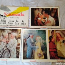 Cine: SCARAMOUCHE STEWART GRANGER JANET LEIGH MEL FERRER PARKER 8 FOTOCROMOS ORIGINALES AMERICANOS. Lote 138932750