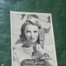 Cine: COLECCION ARTISTAS DE LA PANTALLA REVISTA FLORITA N.10 JANET LEIGH. Lote 138988846