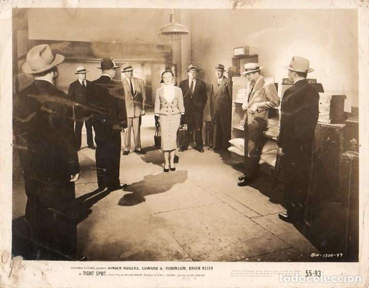 FOTOGRAFÍA ORIGINAL TIGHT SPOT GINGER ROGERS EDWARD G ROBINSON PHIL KARLSON 1955 (Cine - Fotos y Postales de Actores y Actrices)