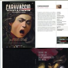Cine: IV CICLO DOCUMENTALES DE ARTE. 15 CARTELES 10,5 X 15 CMS.. Lote 143006870