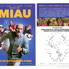 Cine: MIAU, CON JOSÉ LUIS GIL. . Lote 143006834