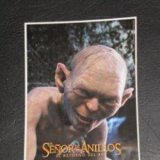 Cine: EL SEÑOR DE LOS ANILLOS - EL RETORNO DEL REY- GOLUM . Lote 140853862