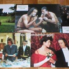 Cine: LOBBY CARDS LOTE 9 FOTOCROMOS ORIGINAL 1984 GREYSTOKE TARZAN CHRISTOPHER LAMBERT ANDIE MACDOWELL. Lote 141633566