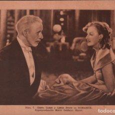 Cine: ESTAMPAS DEL CINEMA Nº 7. ROMANCE DE MGM.CON GRETA GARBO.(16,5X13,5) RF-1814 , PERFECTO ESTADO. Lote 141764514