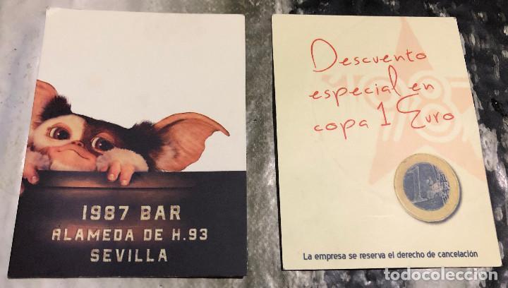 FLYER PUBLICITARIO DE 1987 BAR, SEVILLA, ANDALUCÍA. CON IMAGEN DE GIZMO DE LOS GREMLINS. (Cine - Fotos, Fotocromos y Postales de Películas)