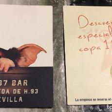 Cine: FLYER PUBLICITARIO DE 1987 BAR, SEVILLA, ANDALUCÍA. CON IMAGEN DE GIZMO DE LOS GREMLINS.. Lote 143141214