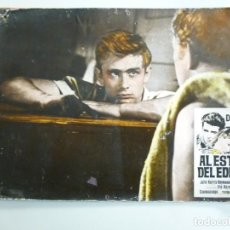 Cine: JAMES DEAN AL ESTE DEL EDEN FOTOCROMO LOBBY CARD DE CARTÓN RÍGIDO. Lote 143158090
