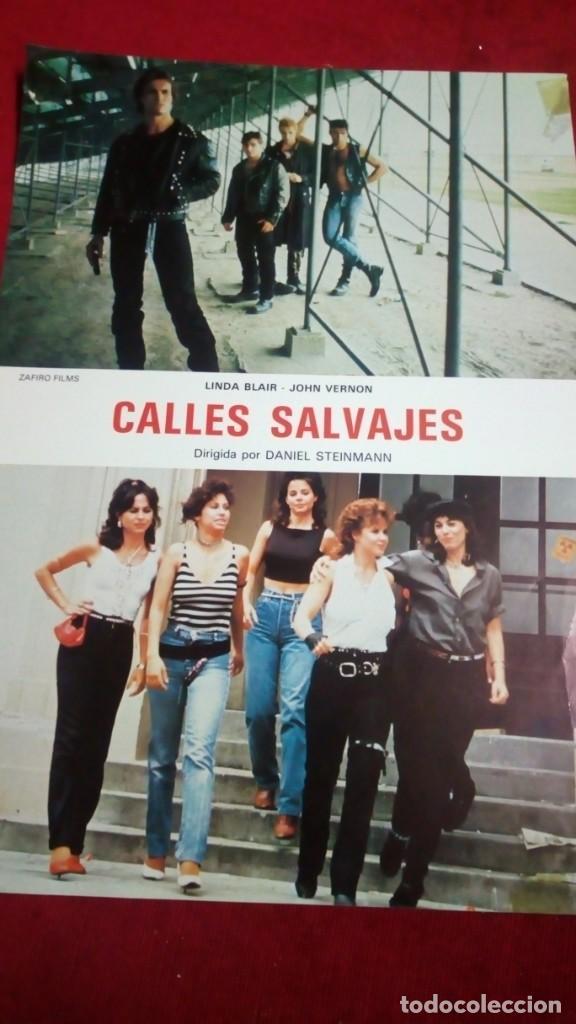 CALLES SALVAJES. MEDIDAS 34X24CM (Cine - Fotos, Fotocromos y Postales de Películas)