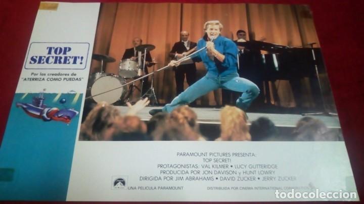 TOP SECRET! MEDIDAS 34X24CM (Cine - Fotos, Fotocromos y Postales de Películas)