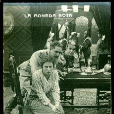 Cine: CINE MUDO - 1914 - LA MONEDA ROTA - LOTE DE 9 POSTALES FOTOGRÁFICAS . Lote 143586666