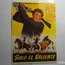 Cine: POSTAL SOLO ANTE EL PELIGRO - GREGORY PECK. Lote 143746486
