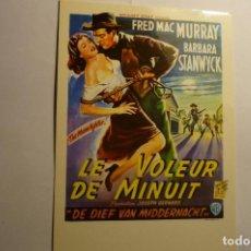 Cine: POSTAL CARTEL EXTRANJERO -WESTERN LE VOLEUR DE MINUIT. Lote 143746614