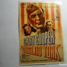 Cine: POSTAL SARGENTO YORK -GARY COOPER. Lote 143747246