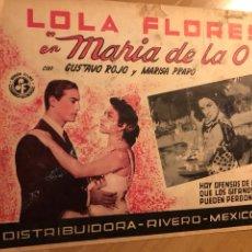 Cine: CARTEL FOTOCROMO O LOBBY DE MARIA DE LA O.LOLA FLORES.MEXICO. Lote 145329052