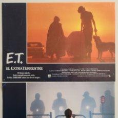Cine: DOS FOTOGRAMAS ET EL EXTRATERRESTRE. Lote 145412634