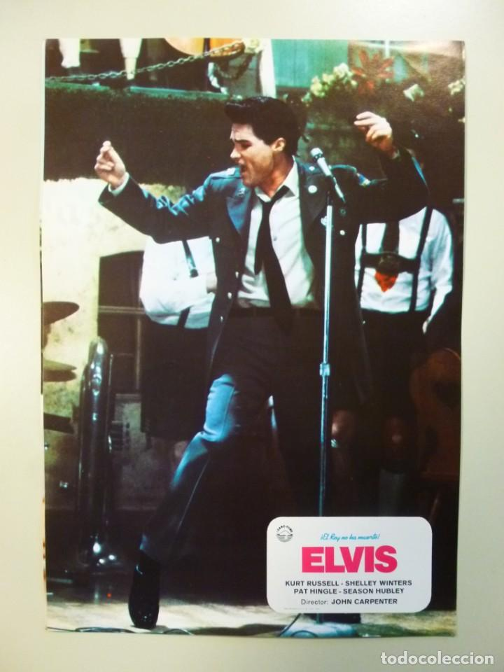 Cine: Juego 12 fotocromos publicitarios de la película Elvis El rey no ha muerto John Carpenter K Russell - Foto 2 - 145490098