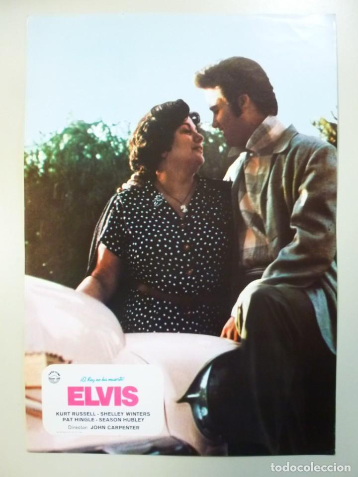 Cine: Juego 12 fotocromos publicitarios de la película Elvis El rey no ha muerto John Carpenter K Russell - Foto 3 - 145490098