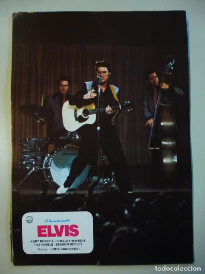 Cine: Juego 12 fotocromos publicitarios de la película Elvis El rey no ha muerto John Carpenter K Russell - Foto 4 - 145490098
