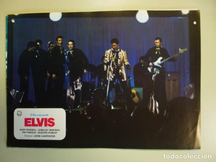 Cine: Juego 12 fotocromos publicitarios de la película Elvis El rey no ha muerto John Carpenter K Russell - Foto 5 - 145490098