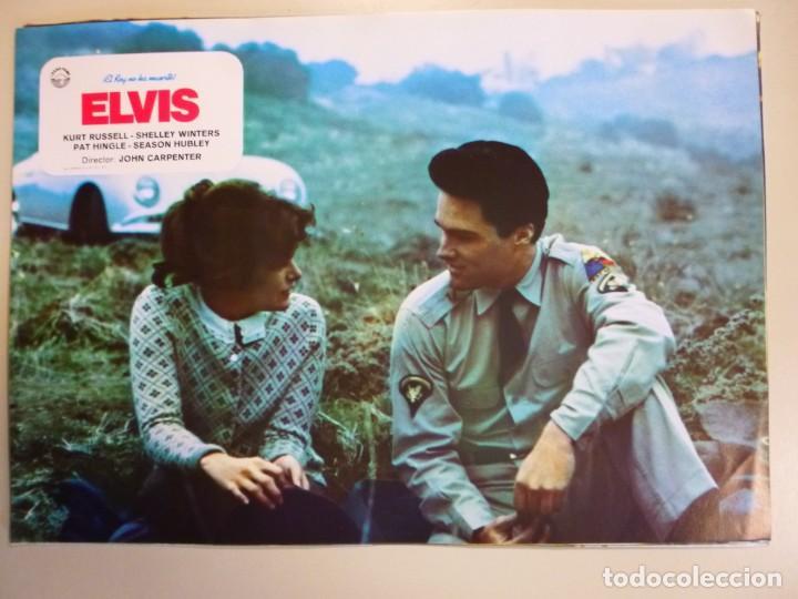 Cine: Juego 12 fotocromos publicitarios de la película Elvis El rey no ha muerto John Carpenter K Russell - Foto 6 - 145490098
