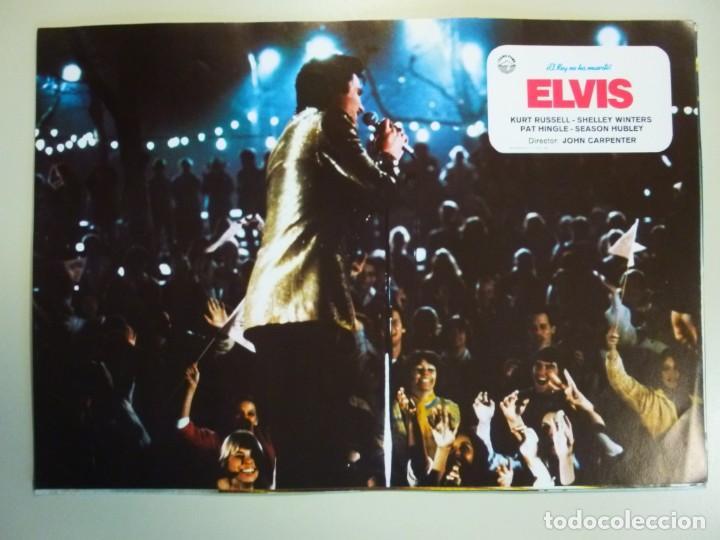 Cine: Juego 12 fotocromos publicitarios de la película Elvis El rey no ha muerto John Carpenter K Russell - Foto 8 - 145490098