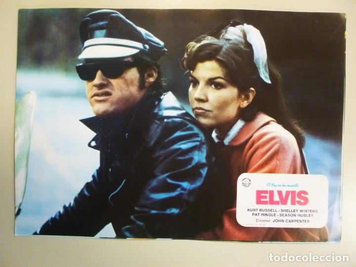 Cine: Juego 12 fotocromos publicitarios de la película Elvis El rey no ha muerto John Carpenter K Russell - Foto 10 - 145490098