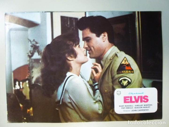 Cine: Juego 12 fotocromos publicitarios de la película Elvis El rey no ha muerto John Carpenter K Russell - Foto 12 - 145490098