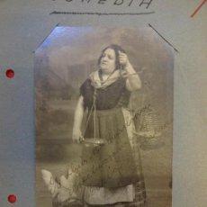 Cine: MARIA MORERA. ACTRIZ DE TEATRO CATALANA. FOTO-POSTAL ORIGINAL CON FIRMA. AÑO 1934. Lote 145614030