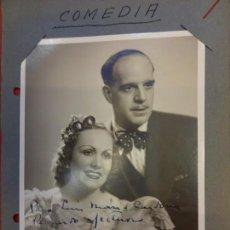 Cine: AMPARITO MARTI Y PACO PIERRÁ. ACTORES. ANTIGUA FOTO AUTOGRAFIADA. ORIGINAL AÑOS 1930S. Lote 145829050