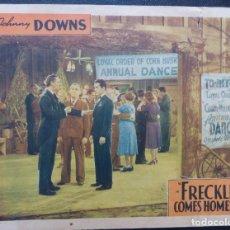 Cine: FRECKLES COMES HOME ORIGINAL LOBBY CARD,AÑO 1942,JOHNNY DOWNS,MANTON MORELAND. Lote 146036790