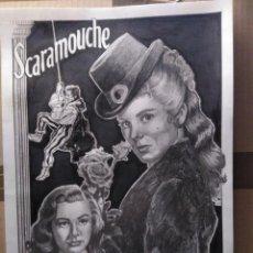 Cine: SCARAMOUCHE - ORIGINAL A LAPIZ GRAFITO. FIRMADO. A3 (42X30).. Lote 146380138